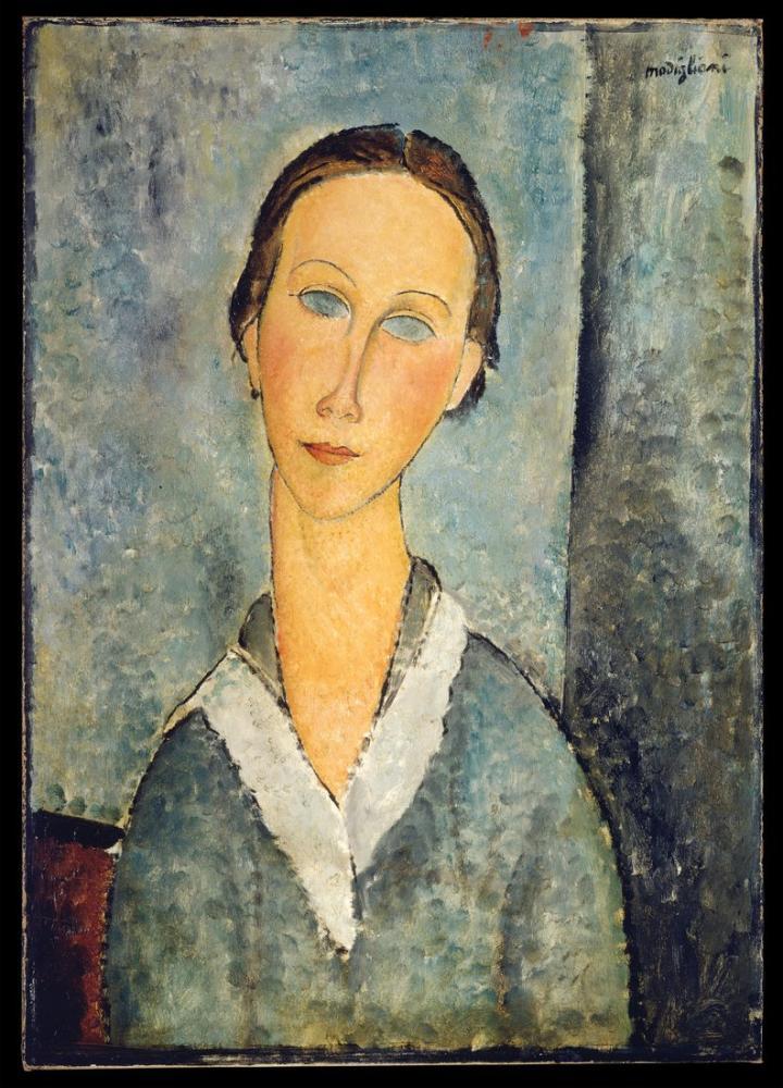 Amedeo Modigliani, Denizci Bluzundaki Kız, Kanvas Tablo, Amedeo Modigliani
