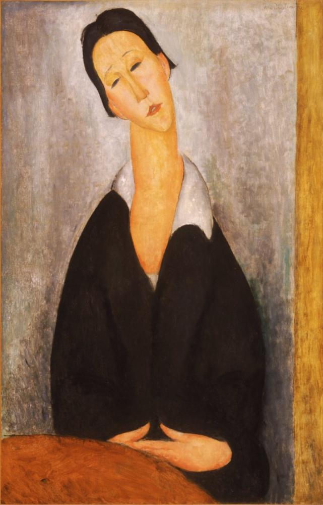 Amedeo Modigliani, İtalyan Portresi Polonyalı Bir Kadın, Kanvas Tablo, Amedeo Modigliani
