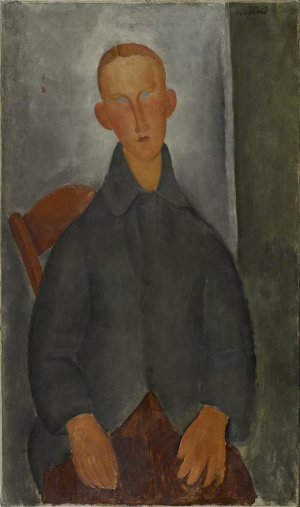 Amedeo Modigliani, Küçük Kızıl Saçlı Çocuk, Kanvas Tablo, Amedeo Modigliani