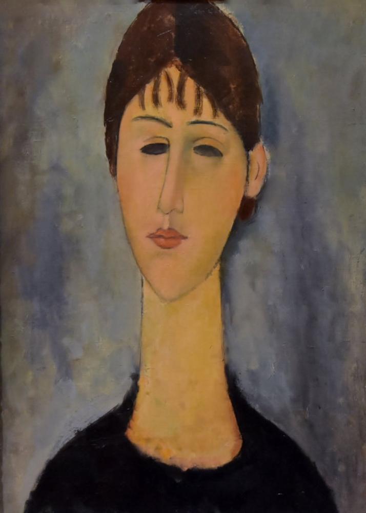 Amedeo Modigliani, Genç Kadın, Kanvas Tablo, Amedeo Modigliani