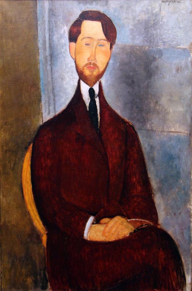Amedeo Modigliani, Leopold Zborowski Portresi, Kanvas Tablo, Amedeo Modigliani