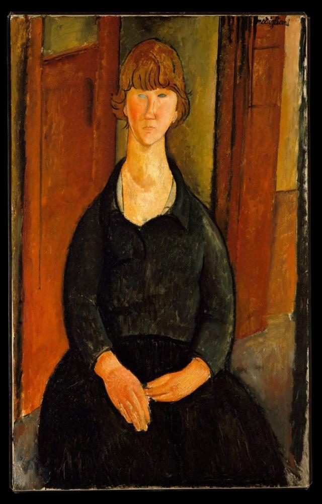 Amedeo Modigliani, Çiçek Satıcısı, Kanvas Tablo, Amedeo Modigliani