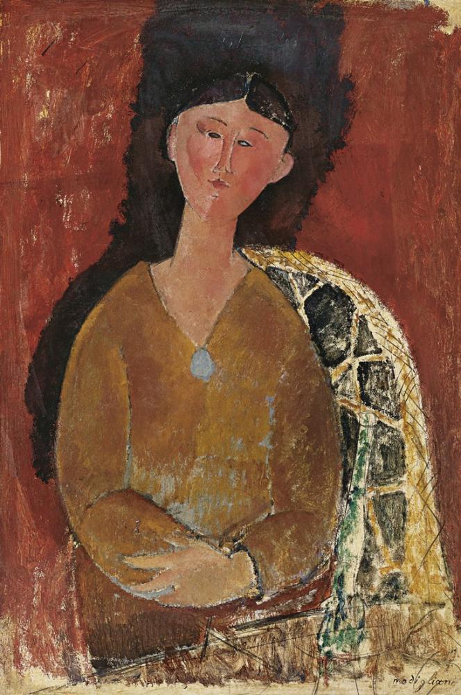 Amedeo Modigliani, Bir Beatrice Hastings Sözü, Kanvas Tablo, Amedeo Modigliani