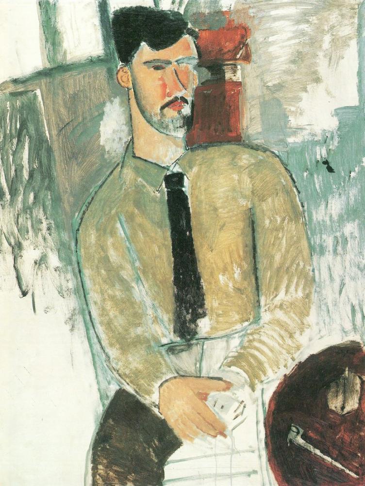 Amedeo Modigliani, Henri Laurens Portresi, Kanvas Tablo, Amedeo Modigliani
