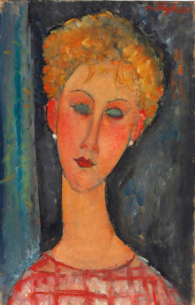 Amedeo Modigliani, Küpeli Genç Kız, Kanvas Tablo, Amedeo Modigliani