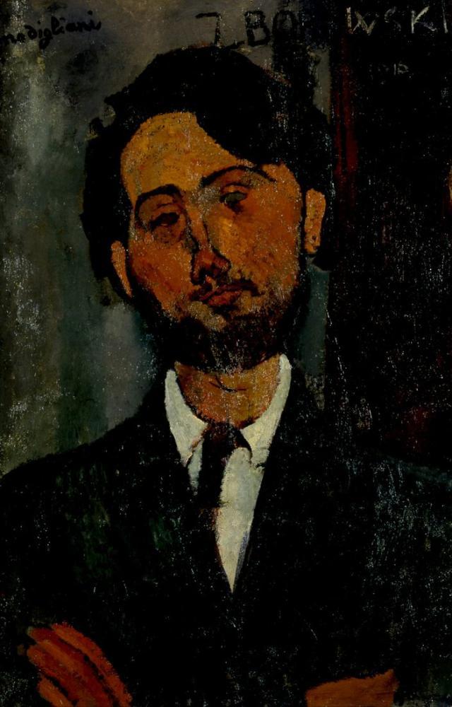 Amedeo Modigliani, Léopold Zborowski Portresi, Kanvas Tablo, Amedeo Modigliani
