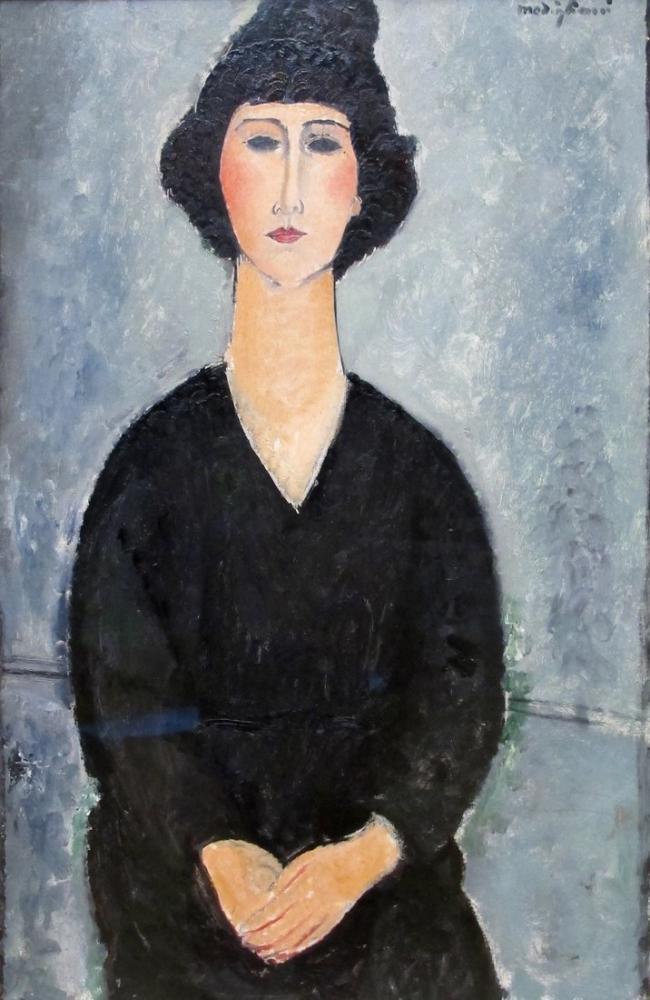 Amedeo Modigliani, Siyahlı Kadın, Kanvas Tablo, Amedeo Modigliani