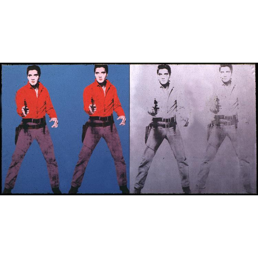 Andy Warhol Elvis I & II Tablosu, Kanvas Tablo, Andy Warhol, kanvas tablo, canvas print sales