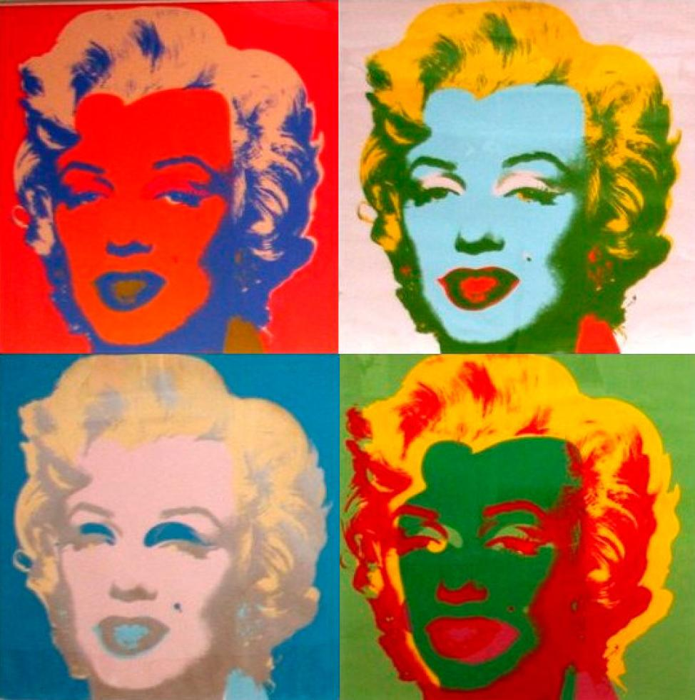 Andy Warhol Vurulmuş Marilyn'ler 2, Kanvas Tablo, Andy Warhol