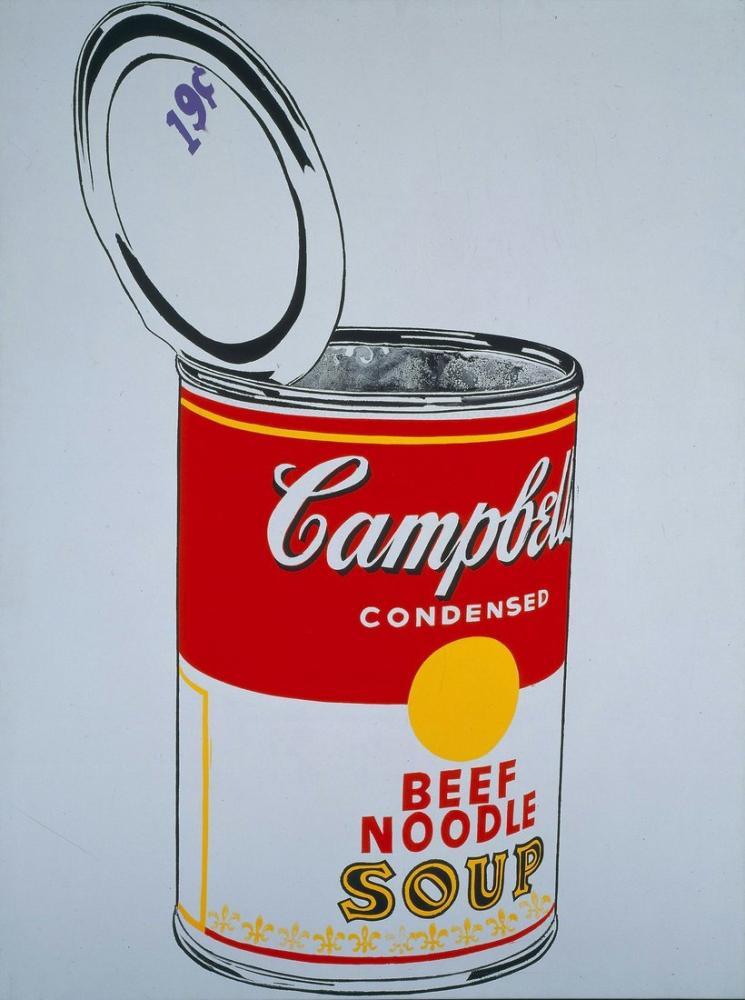 Andy Warhol Beef Noodle Soup, Canvas, Andy Warhol, AWARHOL10
