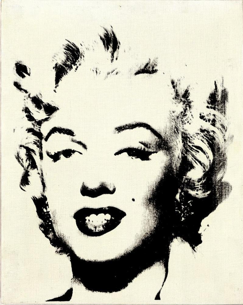 Andy Warhol Beyaz Marilyn, Kanvas Tablo, Andy Warhol