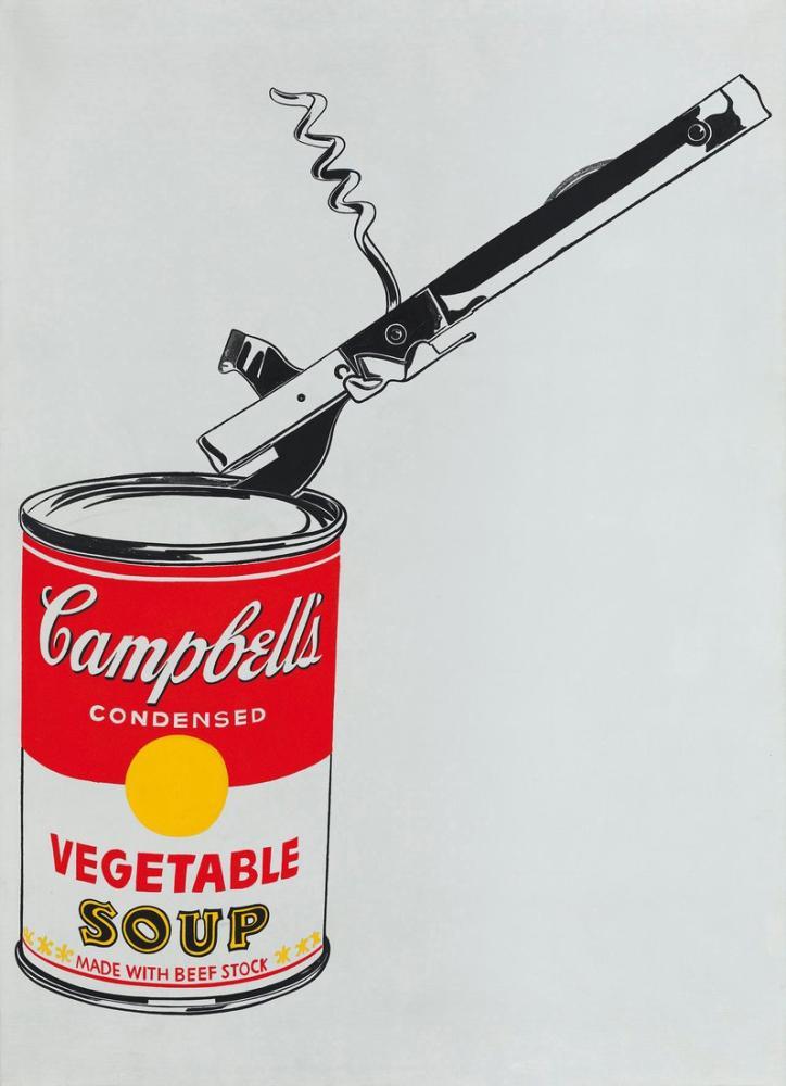 Andy Warhol Konserve Açacağı, Kanvas Tablo, Andy Warhol