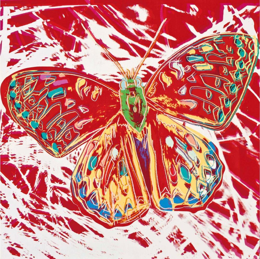 Andy Warhol Kelebek, Kanvas Tablo, Andy Warhol