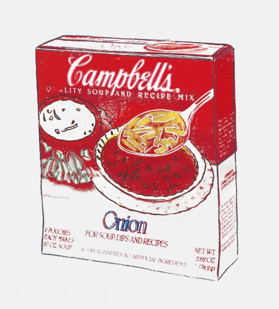 Andy Warhol Campbells Soğan Çorbası Kutusu, Kanvas Tablo, Andy Warhol