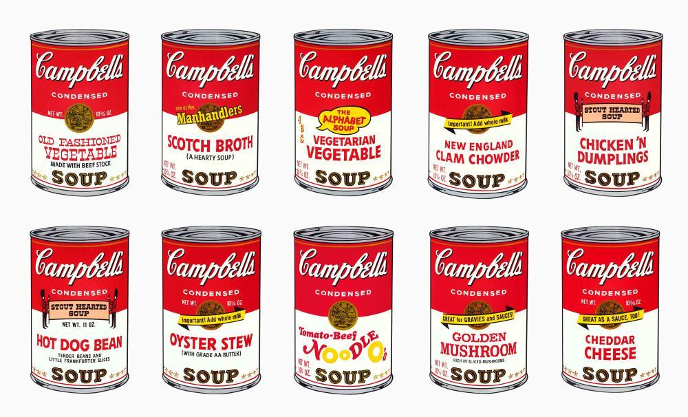 Andy Warhol Campbell Çorbası, Kanvas Tablo, Andy Warhol