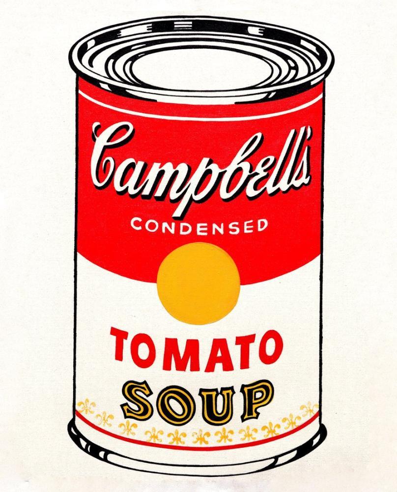 Andy Warhol Campbell Çorbaları, Kanvas Tablo, Andy Warhol
