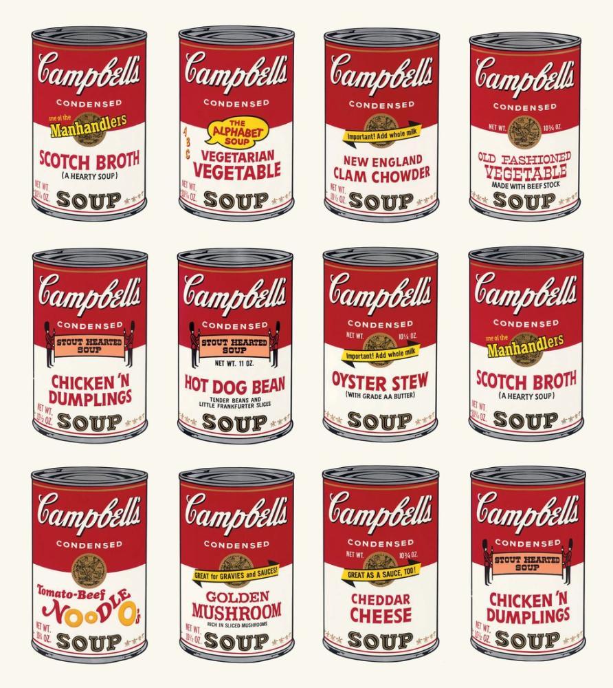 Andy Warhol Campbell Soups 2, Canvas, Andy Warhol, kanvas tablo, canvas print sales