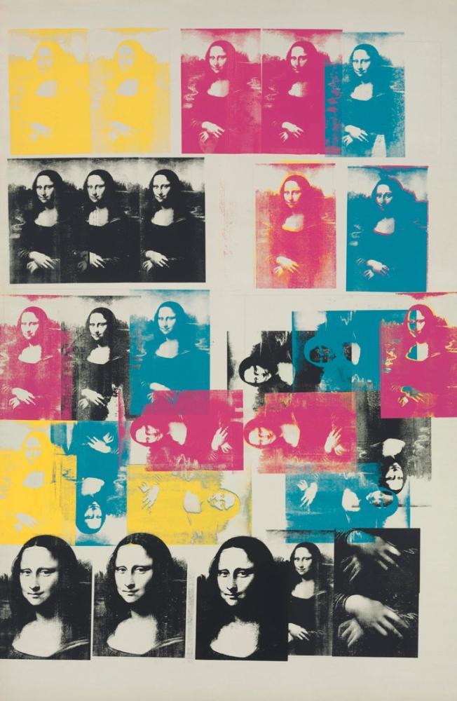 Andy Warhol Renkli Mona Lisa, Kanvas Tablo, Andy Warhol