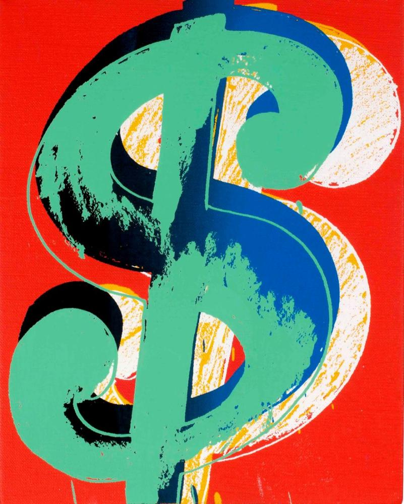 Andy Warhol Dollar Sign, Canvas, Andy Warhol