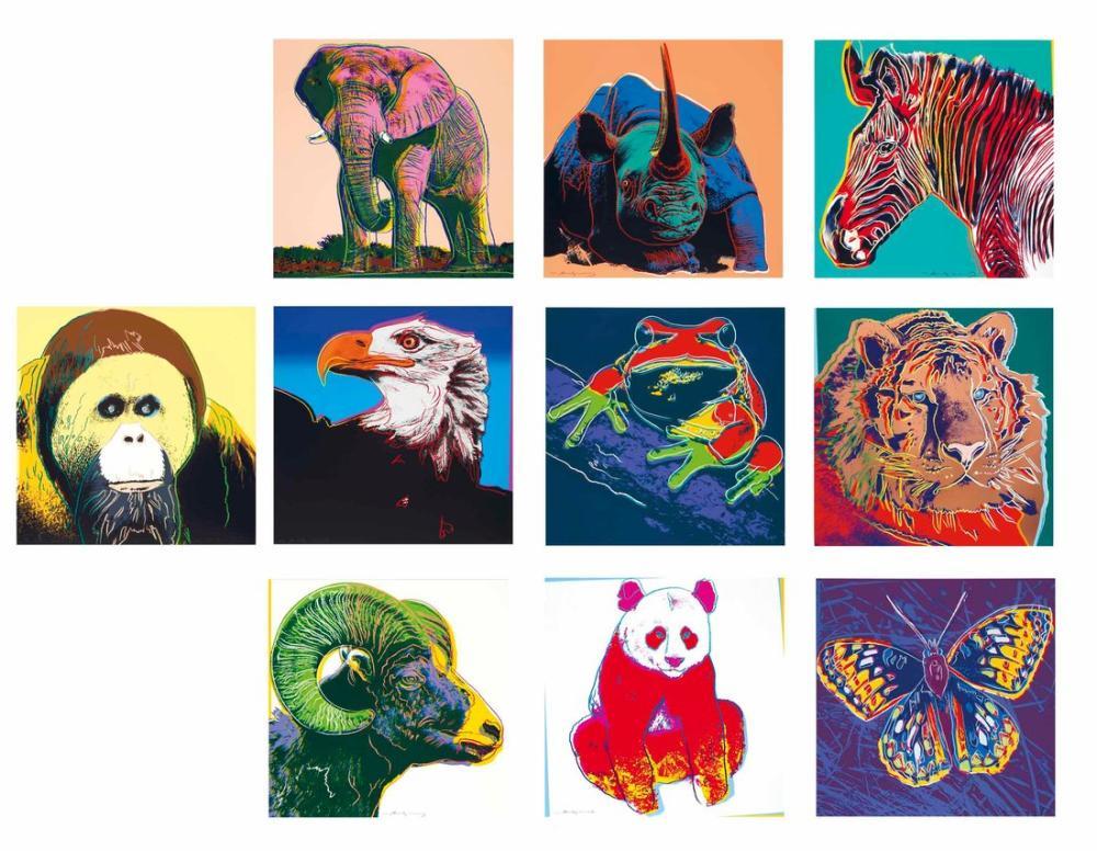 Andy Warhol Nesli Tükenmekte Olan Türler, Kanvas Tablo, Andy Warhol