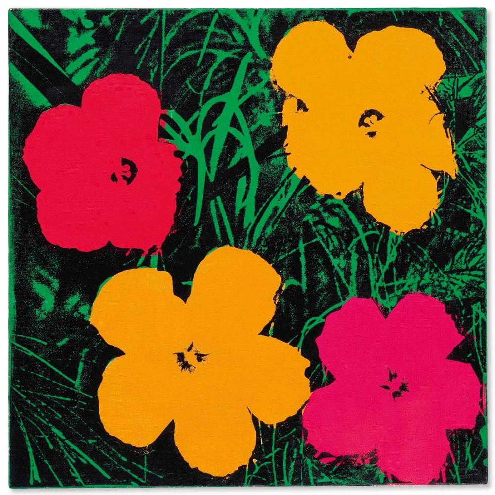 Andy Warhol Flowers 2, Canvas, Andy Warhol, kanvas tablo, canvas print sales