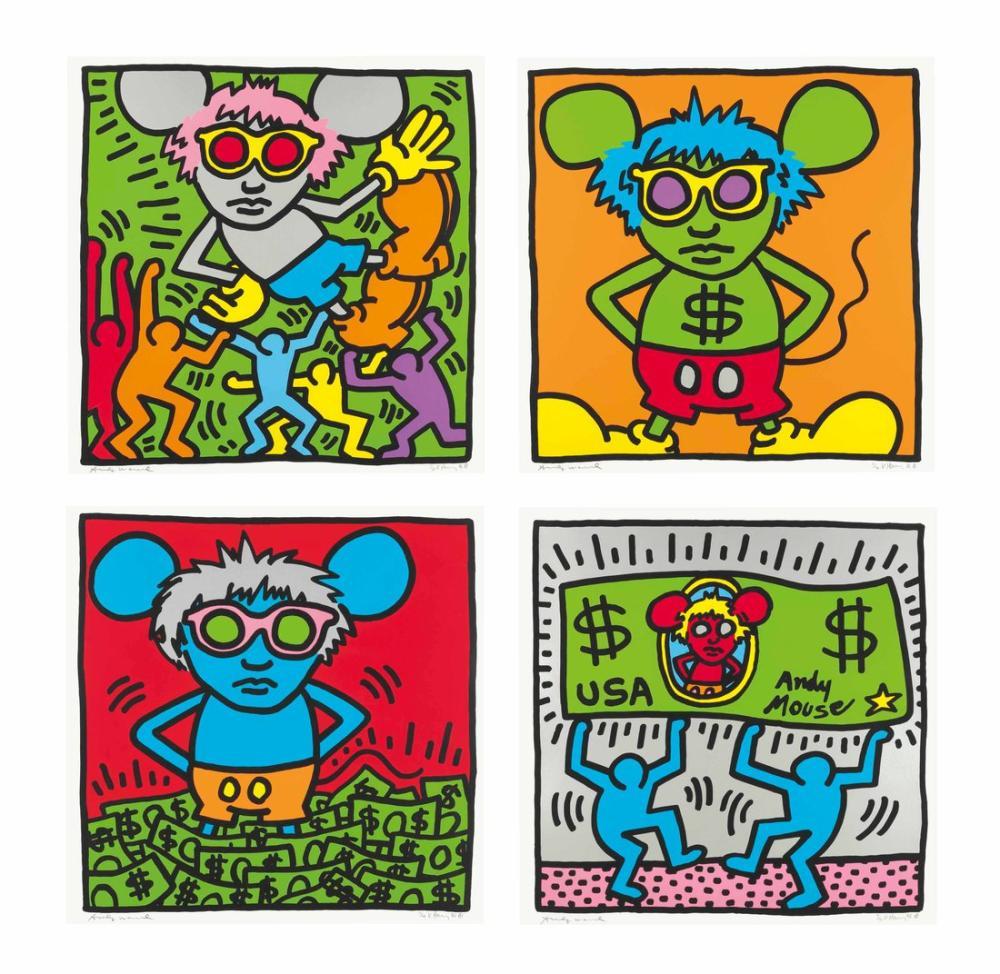 Andy Warhol Keith Harin Gandy Mouse, Canvas, Andy Warhol, kanvas tablo, canvas print sales