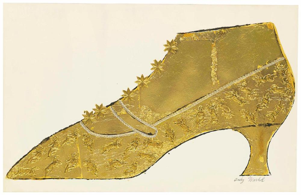 Andy Warhol Large Gold Shoe, Canvas, Andy Warhol, kanvas tablo, canvas print sales