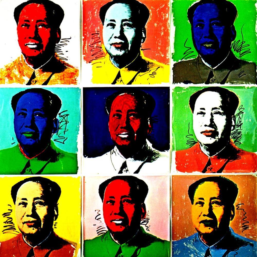 Andy Warhol Mao Portraits, Canvas, Andy Warhol, kanvas tablo, canvas print sales