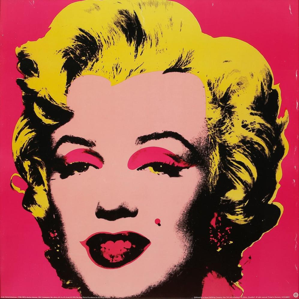 Andy Warhol Marilyn Kırmızı, Kanvas Tablo, Andy Warhol
