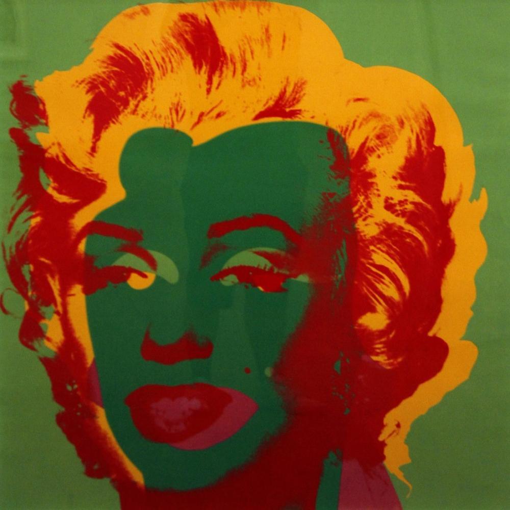 Andy Warhol Marilyn Monroe Green, Canvas, Andy Warhol