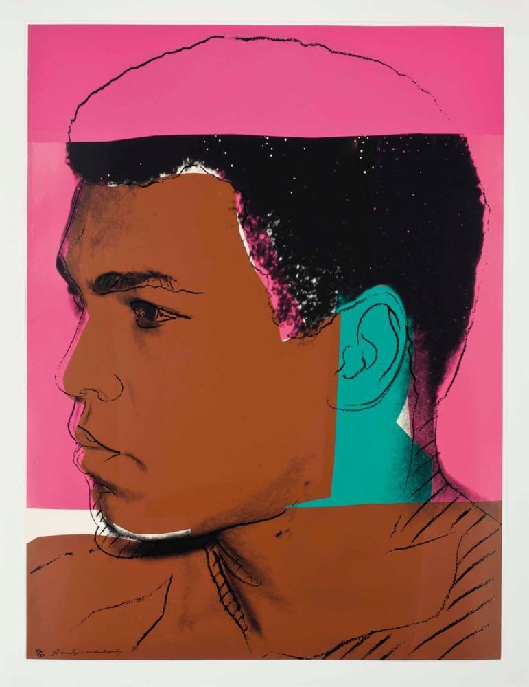 Andy Warhol Muhammed Ali One Plate, Kanvas Tablo, Andy Warhol