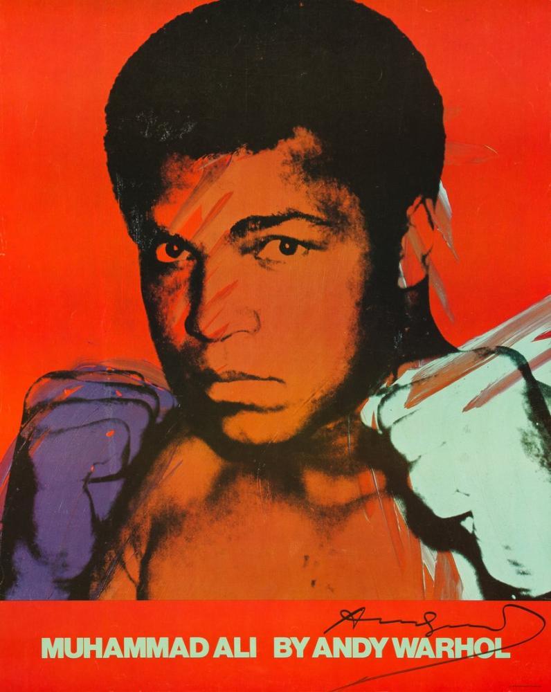 Andy Warhol Muhammed Ali, Kanvas Tablo, Andy Warhol