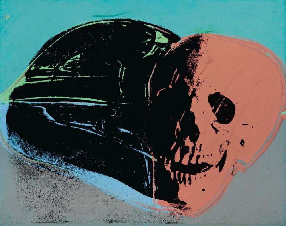 Andy Warhol Skull, Canvas, Andy Warhol, kanvas tablo, canvas print sales
