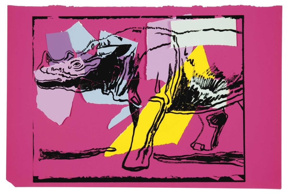 Andy Warhol Sumatras Kaybolan Hayvanlardan Gergedanlar, Kanvas Tablo, Andy Warhol