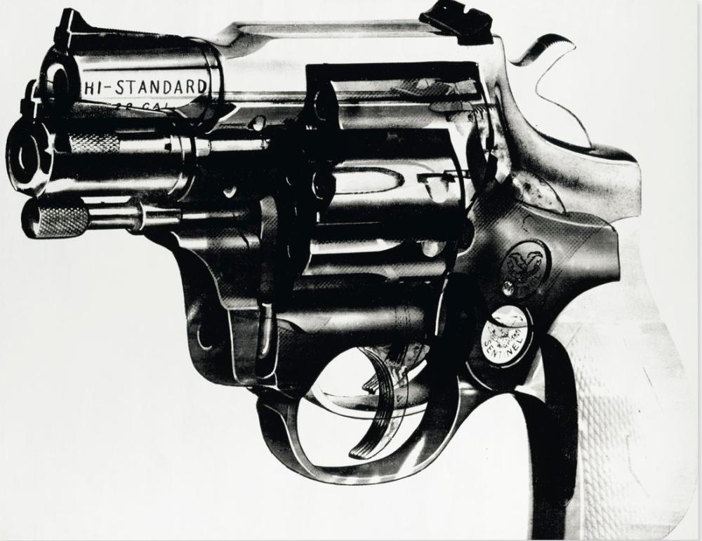 Andy Warhol Warhol Gun 8-8, Canvas, Andy Warhol, kanvas tablo, canvas print sales