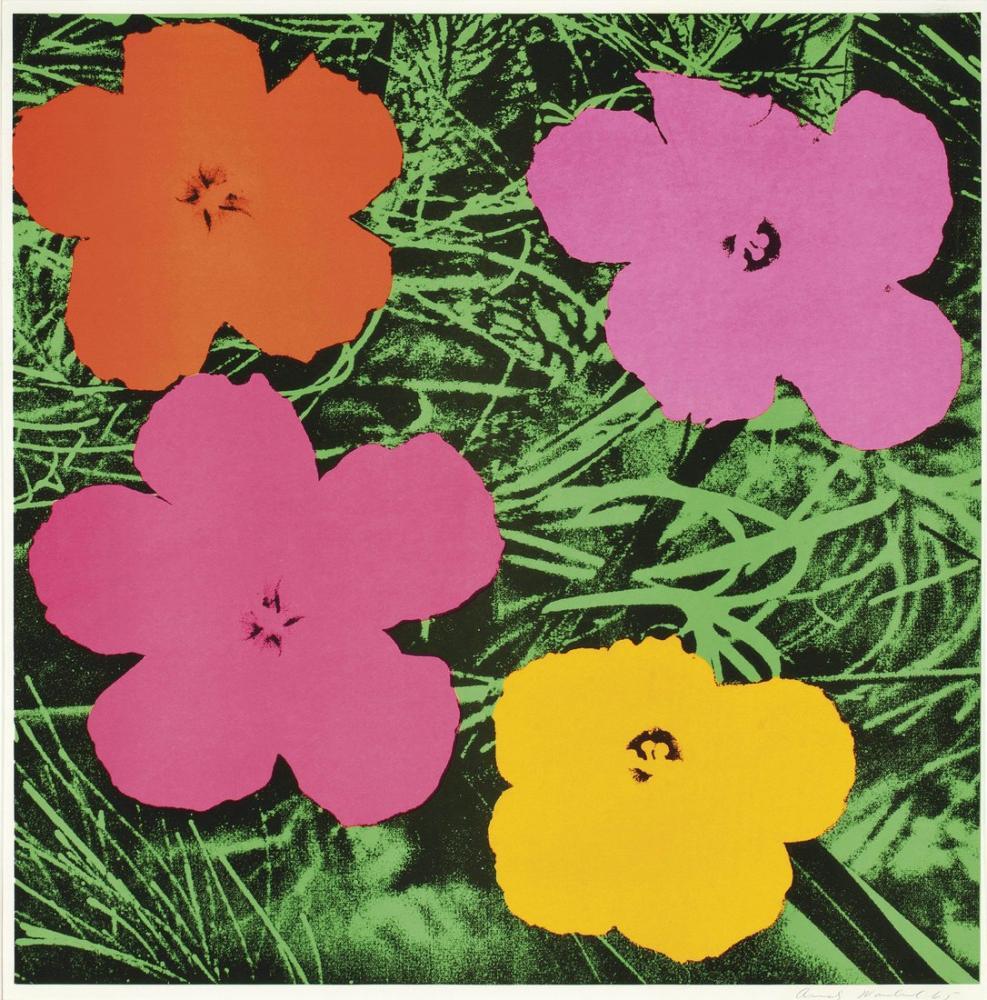 Andy Warhol Çiçekler 3, Kanvas Tablo, Andy Warhol