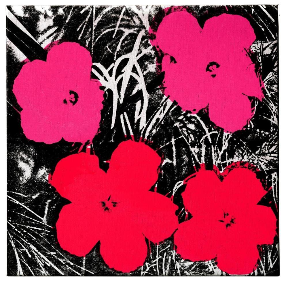 Andy Warhol Çiçekler 4, Kanvas Tablo, Andy Warhol