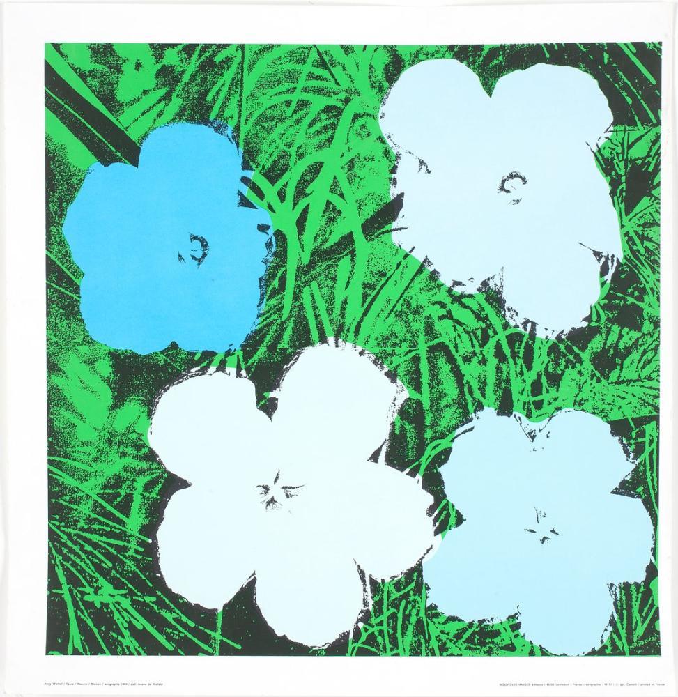 Andy Warhol Flowers 5, Canvas, Andy Warhol