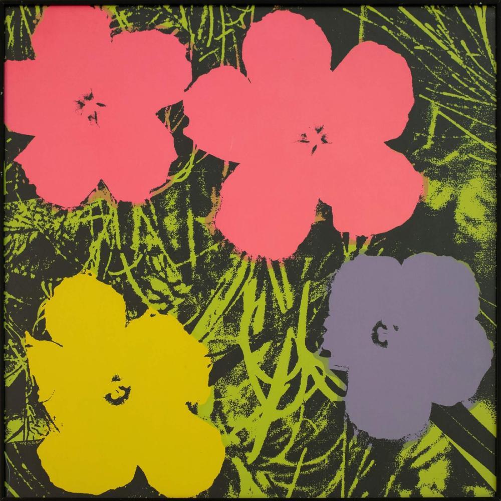 Andy Warhol Çiçekler 7, Kanvas Tablo, Andy Warhol
