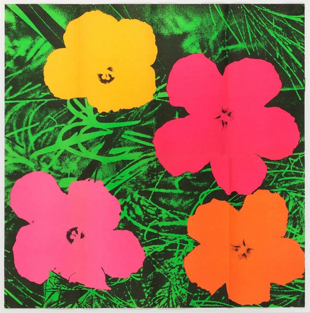 Andy Warhol Çiçekler 10, Kanvas Tablo, Andy Warhol