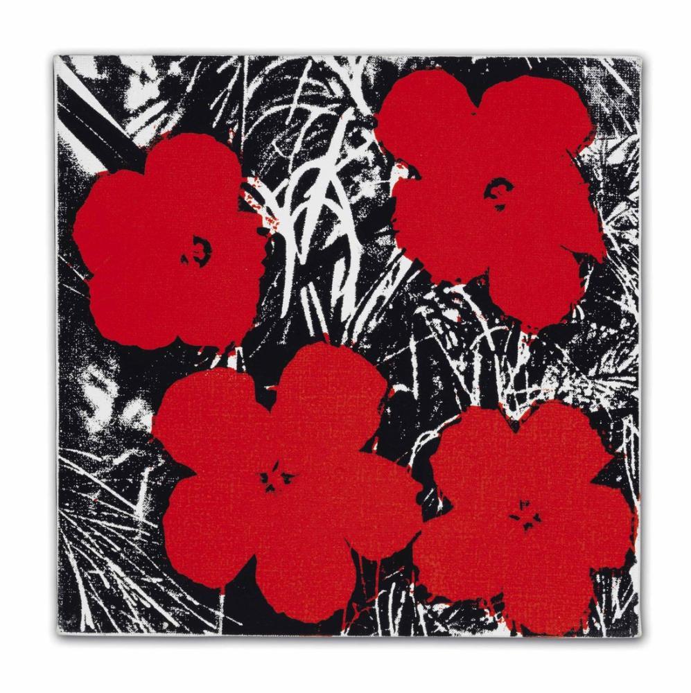 Andy Warhol Çiçekler 11, Kanvas Tablo, Andy Warhol