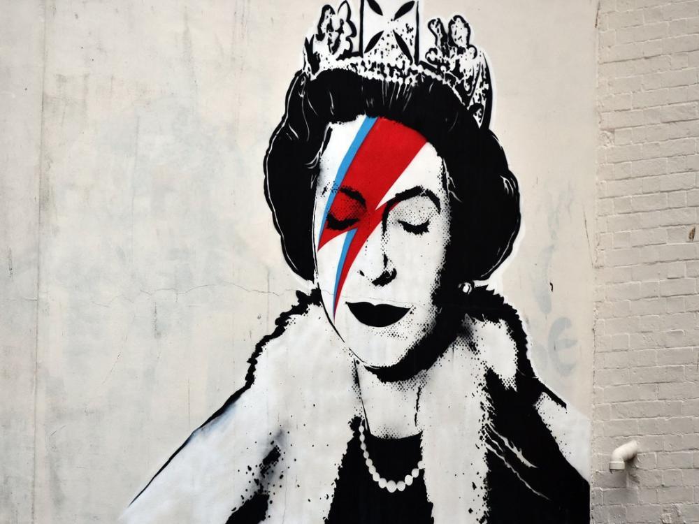 Banksy, Kraliçe Elizabeth, Kanvas Tablo, Banksy