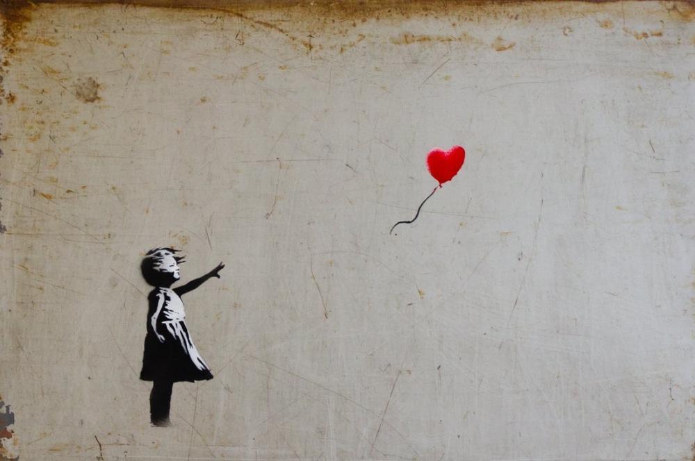 Banksy, Balonlu Kız 2, Kanvas Tablo, Banksy