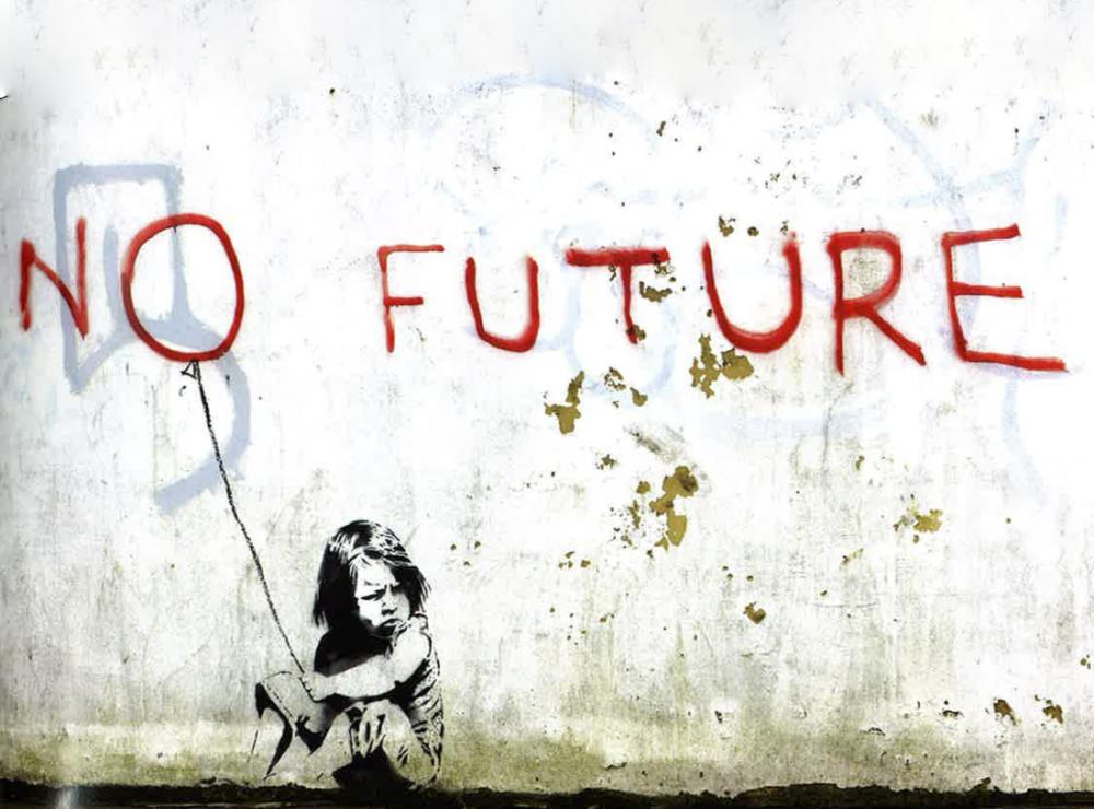 Banksy, No Future, Canvas, Banksy, kanvas tablo, canvas print sales
