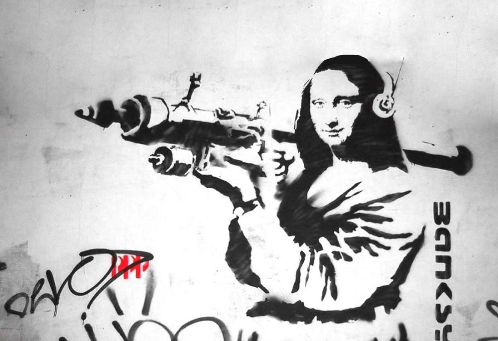 Banksy, Mona Lisa Throw Rocket, Canvas, Banksy, kanvas tablo, canvas print sales