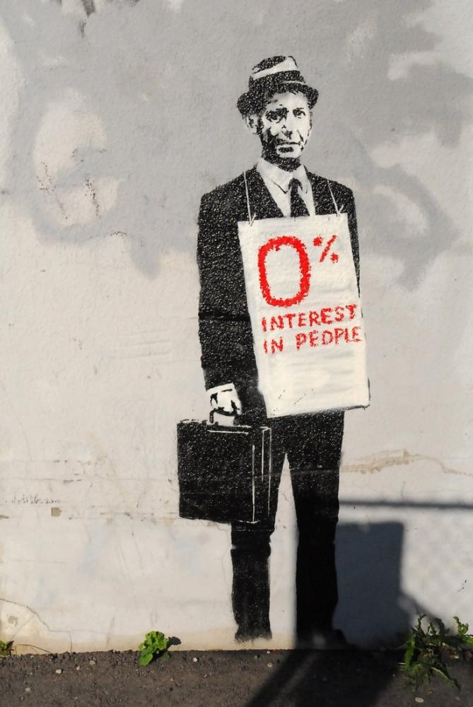 Banksy, 0 Sıfır Yüzde, Kanvas Tablo, Banksy
