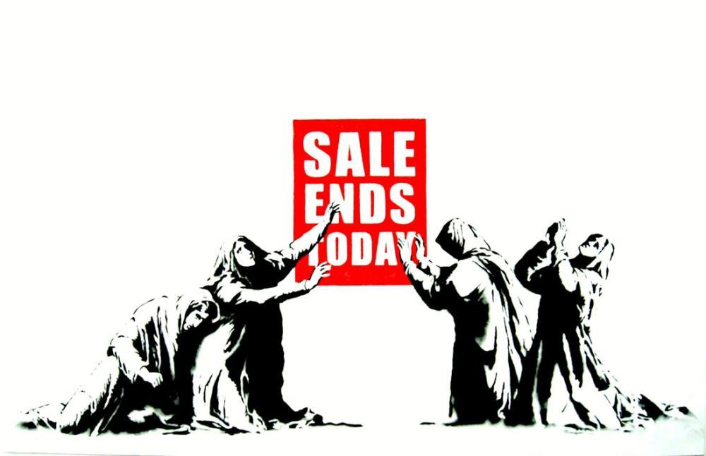 Banksy, Satış Bugün Sona Erdi, Kanvas Tablo, Banksy