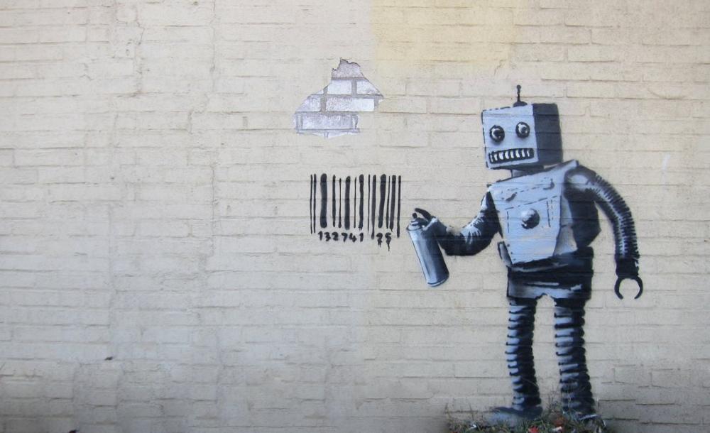 Banksy, Robot, Kanvas Tablo, Banksy