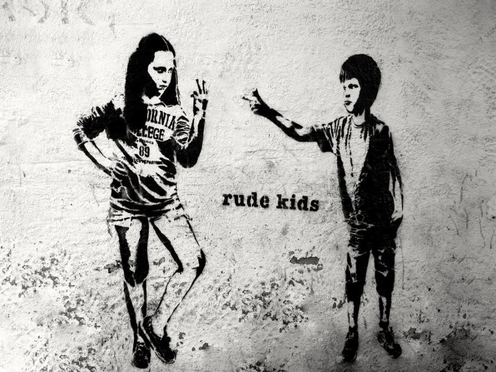 Banksy, Rude Kids, Canvas, Banksy, kanvas tablo, canvas print sales