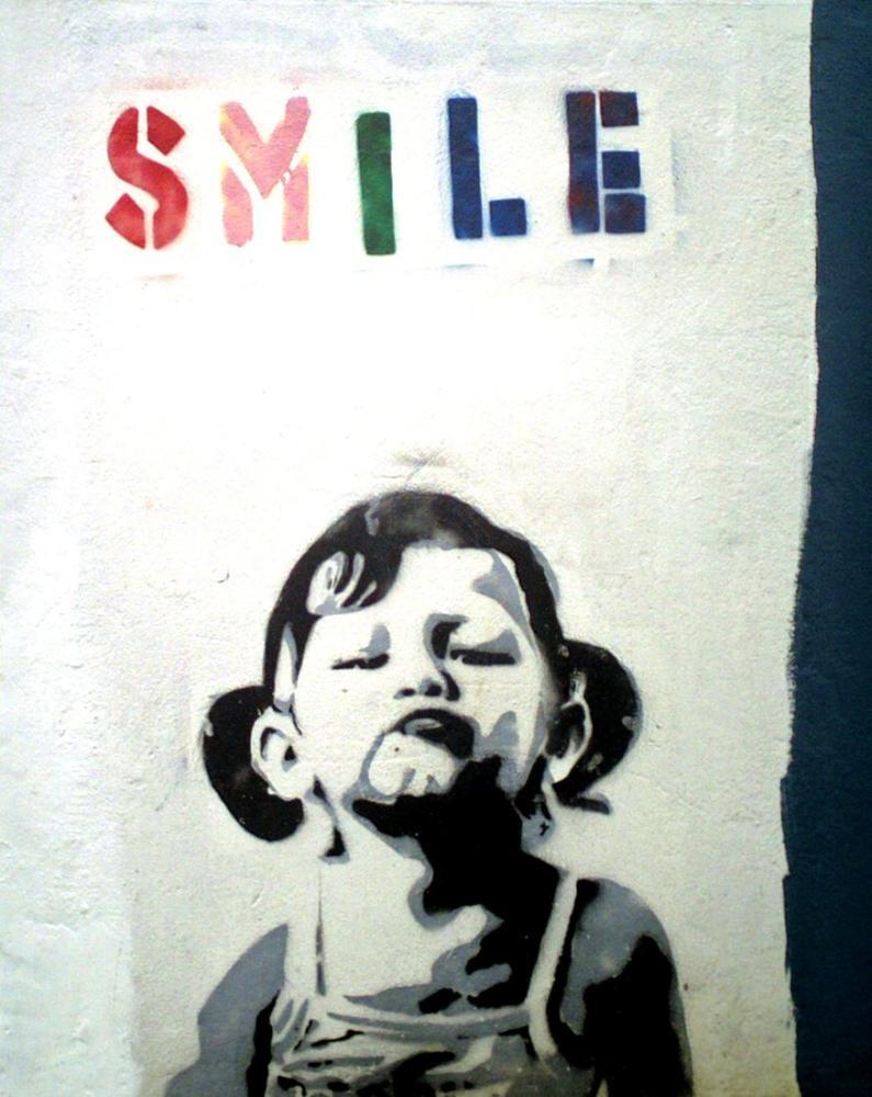 Banksy, Çocuk Gülümsesi, Kanvas Tablo, Banksy